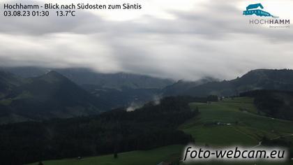 Schönengrund: Hochhamm - Blick nach Südosten zum Säntis