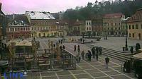 Last daylight view from Braşov: Piaţa Sfatului