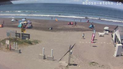 Vue webcam de jour à partir de Minamibouso: 南房総市 岩井海岸, Minamiboso, Chiba