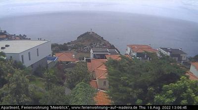 Vista de cámara web de luz diurna desde Caniço: Canico − Cristo Rei