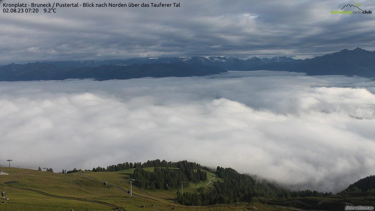 Webcam Frena: Kronplatz − Bruneck − Pustertal − Blick nac