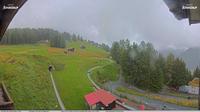 Davos: Sommer-Schlittelbahn, Blick zur Strelaalp - Dia