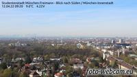 Unterföhring: Studentenstadt München-Freimann − Blick nach Süden − München-Innenstadt