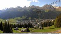 Davos: Platz - Jschalp: Blick auf - und zur Schatzalp - Jour