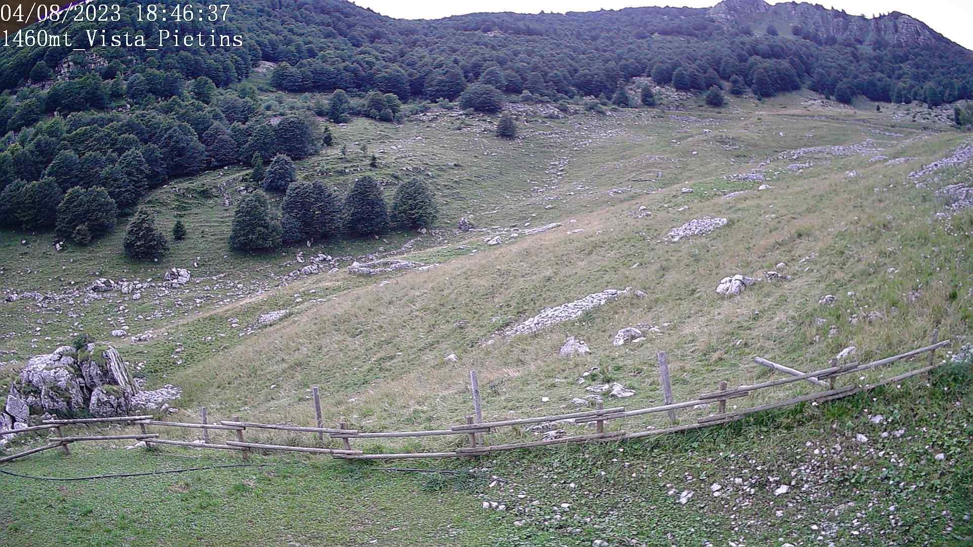 Webkamera Budoia › North-West: Monte Pietins da Casera Campo