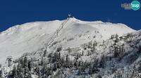 Dernière vue de jour à partir de Ambroz pod Krvavcem: Ski resort Krvavec webcam