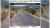 Oregon City: Clackamas Co - Prairie Schooner Way at Washington St - Day time