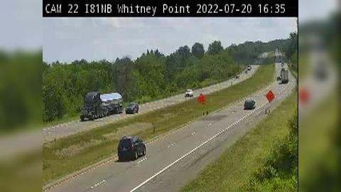 Traffic Cam Hydeville › South: I- at Count Station (Whitney Point)