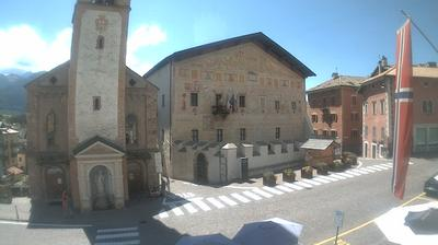 Daylight webcam view from Cavalese: Val di Fiemme, Dolomiti
