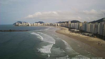 Vista de cámara web de luz diurna desde Guarujá: Praia das Pitangueiras − Guaruja − SP