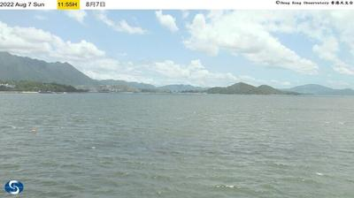 Daylight webcam view from 松仔园: Realtime weather photo at Tai Po Kau tide gauge station, looking towards the northeas