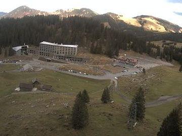 Hundwil › Norden: Schwägalp - Blickrichtung Talstation und Berghotel Schwägalp