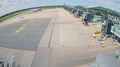 Daylight webcam view from Gdańsk: Airport