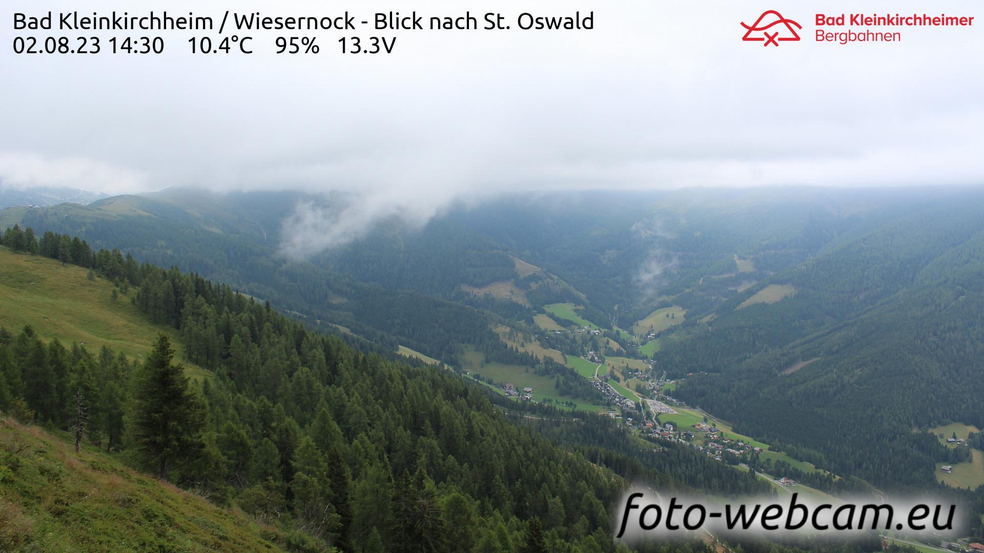 Webcam Staudach: Bad Kleinkirchheim − Wiesernock − Blick