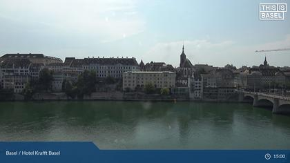 Basel: Hotel Krafft, Blaues und weisses Haus