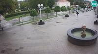 Novska: City Centre and Promenade, Ogrc Fountain - Overdag