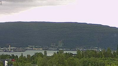 Daylight webcam view from Båsmoen › South: MO I RANA