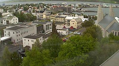 Daylight webcam view from Akureyri