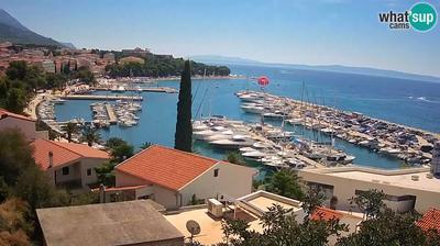 Daylight webcam view from Baška Voda: Baska Voda − panorama − Winner TOP 10 − 6/2015