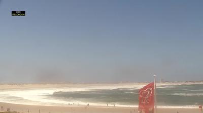 Vue webcam de jour à partir de Peniche: Lagide e Baía (LiveHD°)