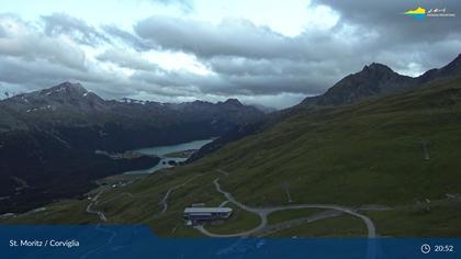 Sankt Moritz: Corviglia, Oberengadiner Seenlandschaft