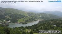 Turracher Hohe: Weitentallift Berg - Blick auf den Turracher See - Overdag