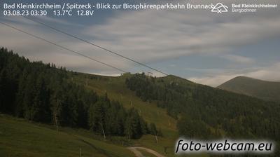 Vista actual o última desde Staudach: Bad Kleinkirchheim − Spitzeckabfahrt