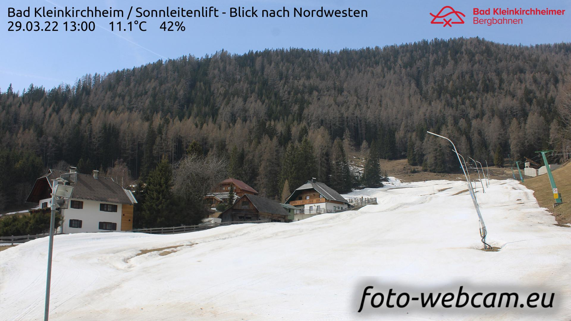 Webcam Sankt Oswald: Bad Kleinkirchheim − Sonnleitenlift