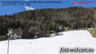 Vista actual o última desde Sankt Oswald: Bad Kleinkirchheim − Sonnleitenlift − Blick nach Nordwesten