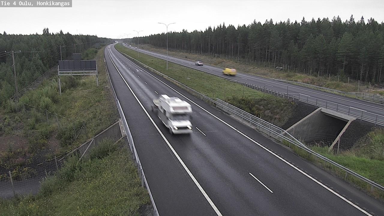 Webcam Oulu: Tie 4 Haukipudas − Tienpinta