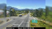 Chilliwack > North: , Hwy  at Prest Rd - looking north - Overdag