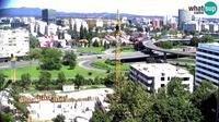 City of Zagreb: Zagreb Slavonska Drziceva Traffic junction, traffic jam - Day time