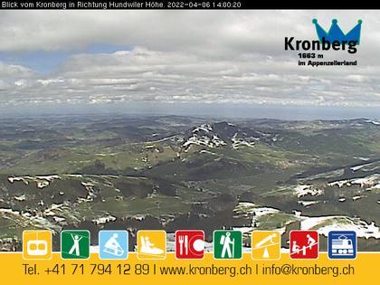 Gonten: Kronberg Blick Richtung Hundwilerhöhe