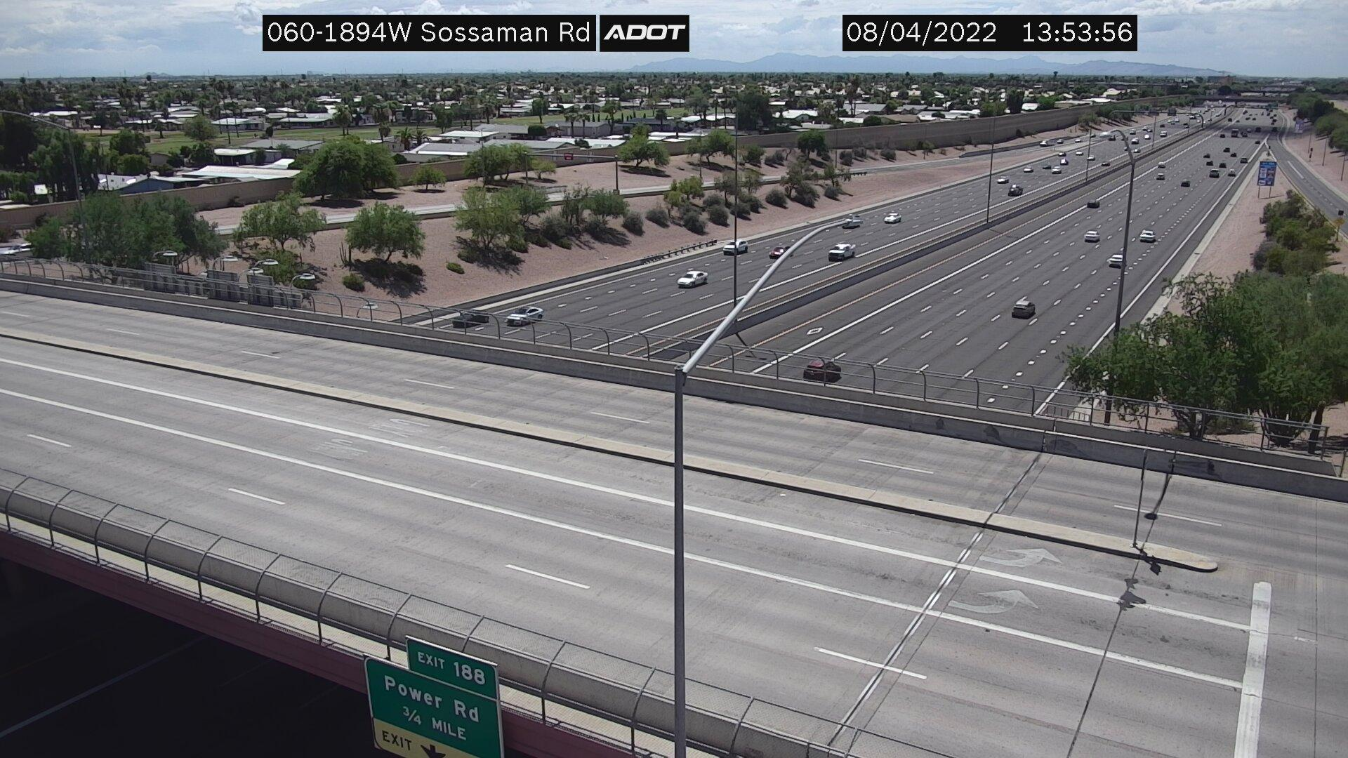 Webcam Fountain of the Sun: US 60 @ Sossaman