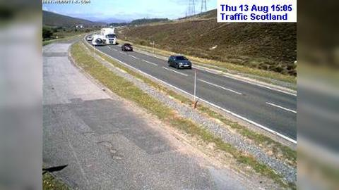 Webcam Aviemore: A9 Drumochter north view live traffic we