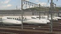 Last daylight view from Fukuoka: Kasuga City − Shinkansen Cam