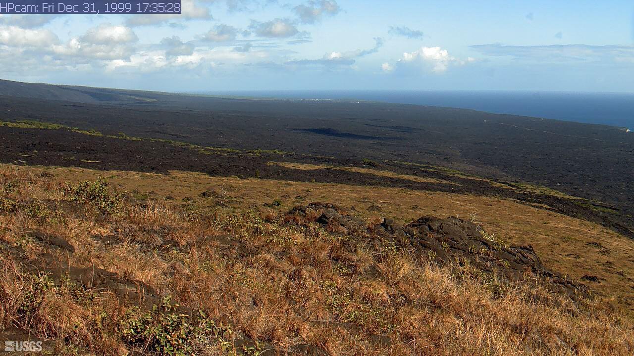 Webcam Kealakomo (historical): Kīlauea Volcano, coastal f