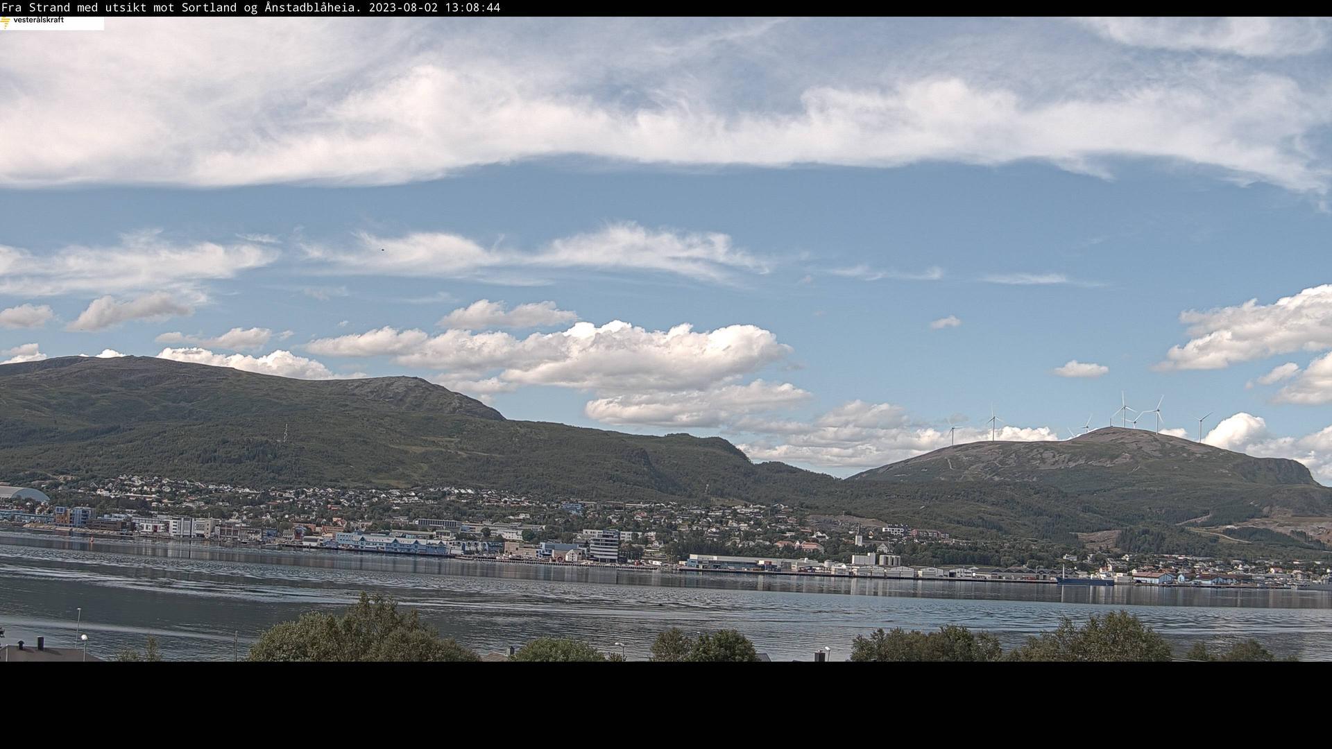 See Fagerbakken: Sortland - centre Live Webcam & Weather Report in  Fagerbakken, Nordland, NO