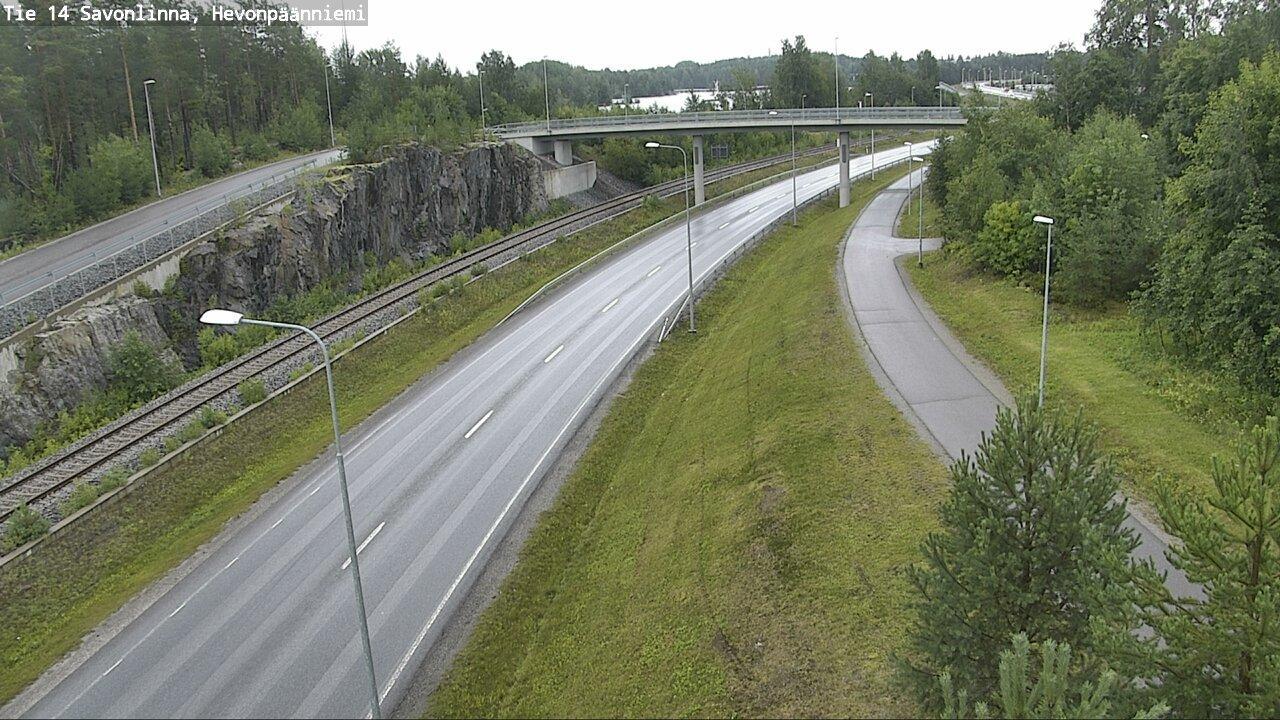 Webcam Savonlinna: Tie14 − Hevonpaanniemi − Savonlinnaan