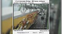 Portland: I- at Interstate Bridge - NB lanes, midspan - Overdag