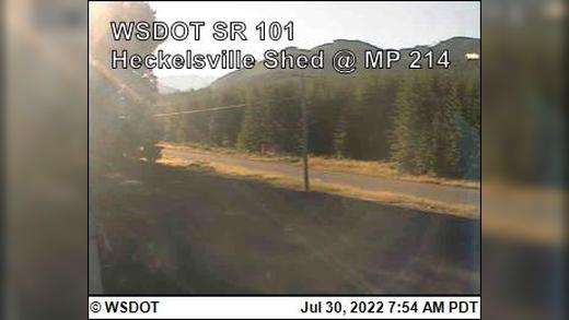 Webcam Twin: Heckelsville Shed on US 101 @ MP 214