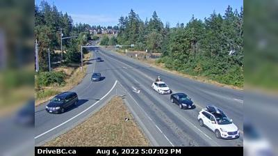 Nanaimo › East: Hwy  at Northfield Rd in - looking east