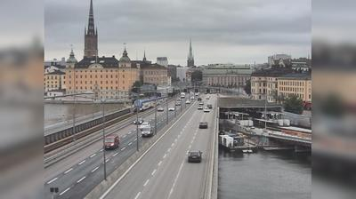 Stockholm: Centralbron S (Kameran är placerad på Centralbron i höjd med Söder Mälarstrand och är riktad mot Norrtull)