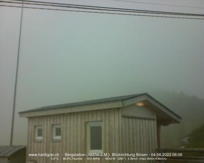 Wolfenschiessen: Bergstation Haldigrat (m) Blickrichtung Ost - Brisen
