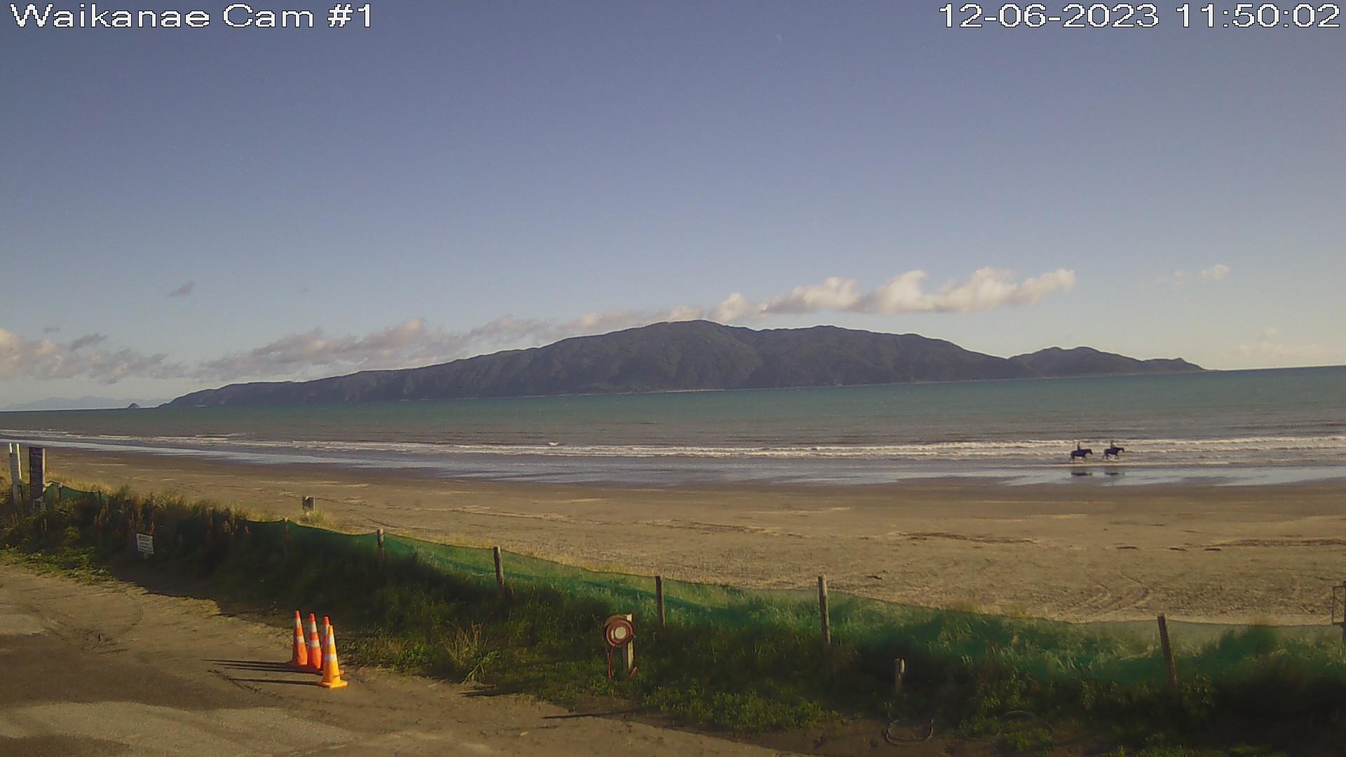 Webcam Waikanae Beach: Kapiti Island