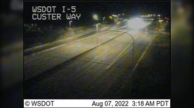 Current or last view from Tumwater: I 5: Custer Way