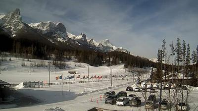 Daylight webcam view from Canmore: Canmore Nordic Centre