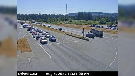 Webcam Departure Bay › South: Hwy 19 at Northfield Rd in