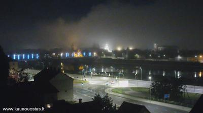 Vue actuelle ou dernière à partir de Kaunas: County − old town
