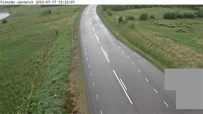 Vue webcam de jour à partir de Finnsbo: västerut (Kameran är placerad vid väg 161 och riktad västerut)